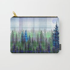 Nature Reflected Plaid Pine Forest Carry-All Pouch