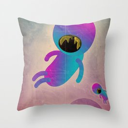 bimbo cosmico Throw Pillow