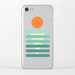 Minimalist ocean Clear iPhone Case