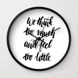 We Feel to Little Wall Clock