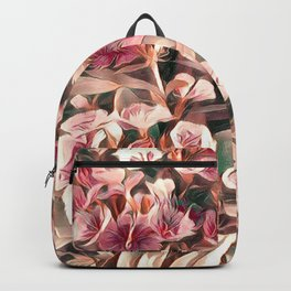 Cranberry Cream Flower Field Backpack