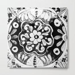 Black and White Talavera Eleven Metal Print