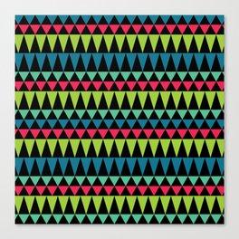 Neon Southwestern Pattern Canvas Print