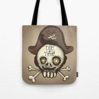 pirate Tote Bags featuring pirate by adi katz
