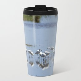Flock of Snowy Egrets at Chincoteague No. 1 Travel Mug