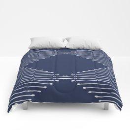 Geo / Navy Comforters