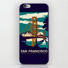 San Francisco Golden Gate Bridge Retro Vintage iPhone Skin