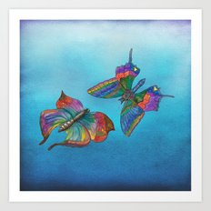 Butterflies and Blue Skies Art Print