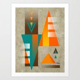 SUMMIT | orange Art Print