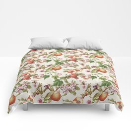 botanical fruits Comforters