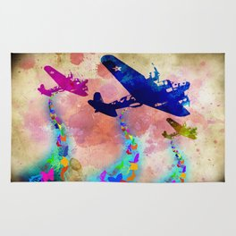 Butterfly Bombers Rug