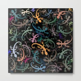Leaping Lizards Metal Print