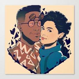 Dwanye and Whitley Canvas Print