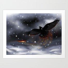 Raven Solstice Art Print
