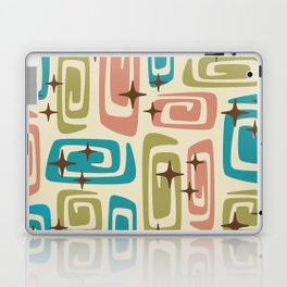 Mid Century Modern Cosmic Galaxies 436 Olive Blue and Dusty Rose Laptop & iPad Skin
