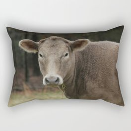 Snacking Cow Rectangular Pillow