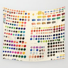 Artist Color Swatches - watercolor, prisma, paints Wall Tapestry