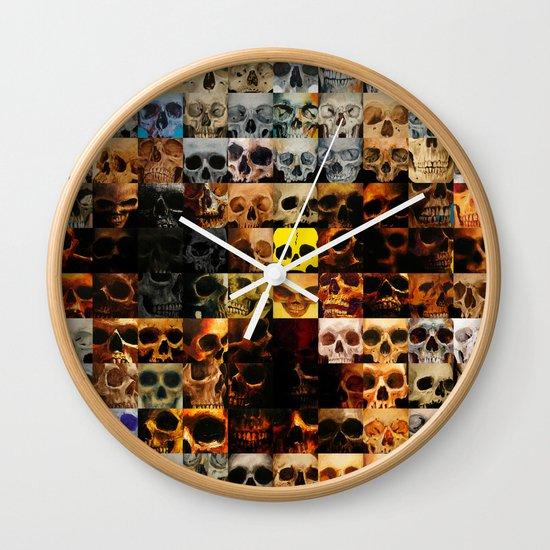 100 Painted Skulls Wall Clock