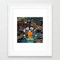 carnival Framed Art Prints featuring Carnival by Kakel