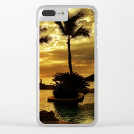Cabo San Lucas, One&Only Palmilla Pool Palappa Clear iPhone Case