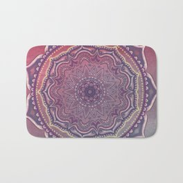 Pink and Blue Mandala Bath Mat