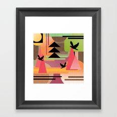 3 Flew Over. Framed Art Print