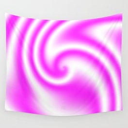 Raspberry Ribbon Candy Fractal Wall Tapestry