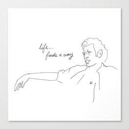 Jeff Goldblum, Life Finds a Way Canvas Print