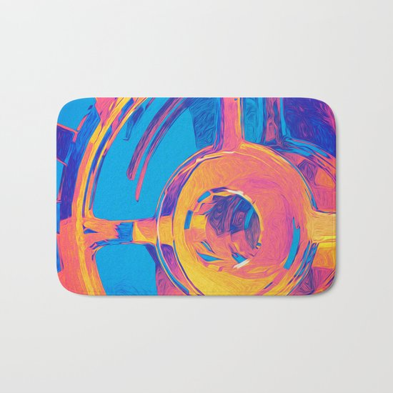 Abstract Macro Gears Bath Mat