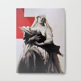 Red Cross wartime. Metal Print