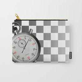 Chequered Flag and Stop Watch Carry-All Pouch