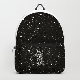 Be Your Own Hero (Black) Quote Backpack