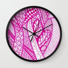 Tangled Hearts Wall Clock