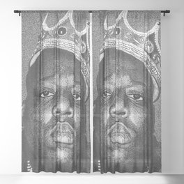 Biggie Smalls Sheer Curtain