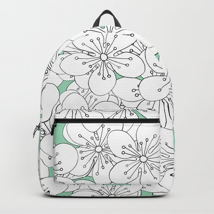 Cherry Blossom With Mint Blocks - In Memory of Mackenzie Backpack