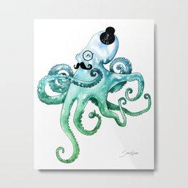 Dapper Octopus Metal Print