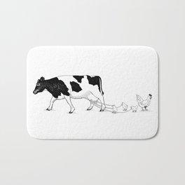 Cow vs. Chicken Bath Mat