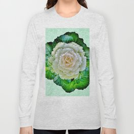 Beige Cabbage from the Garden Long Sleeve T-shirt