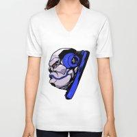 xmen V-neck T-shirts featuring x24 by jason st paul