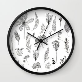 Graphical herbs Wall Clock