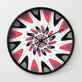 High contrast twirl Wall Clock