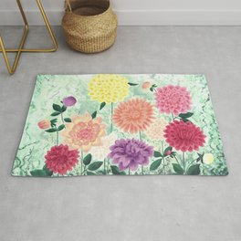 Darling Dahlias Rug