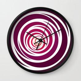 Spinnin Round Crimson Wall Clock
