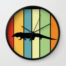 Komodo dragon Retro and Colorful Wall Clock