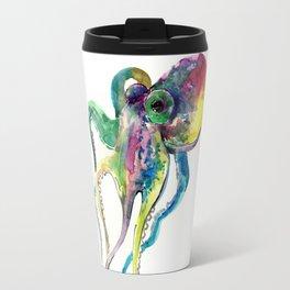 Octopus, Tropical Colors Beach Design Travel Mug