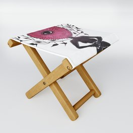 Divine Flower Woman Folding Stool