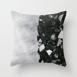 Winters Edge - Aerial Photography Throw Pillow