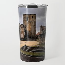 Bombed church in France Travel Mug