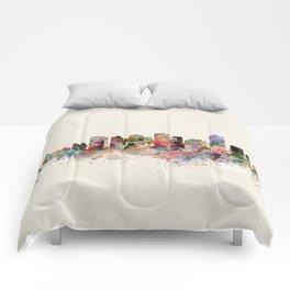 edmonton canada skyline Comforters