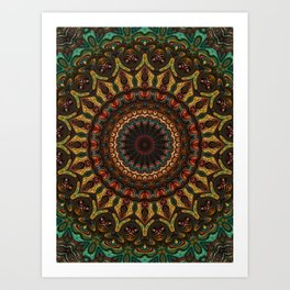 Trippy Fractal Kaleidoscope 2 Art Print